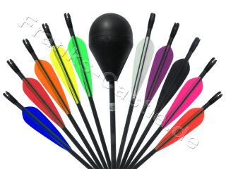 IDV LARP Wunschpfeil in schwarz oder braun mit Kunststoff Vanes