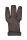 Schiesshandschuh dunkles Leder L