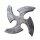 Wurfstern Black Shuriken, Larp-Waffe