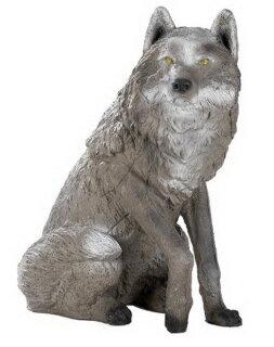 3D Tier Franzbogen Sitzender Wolf