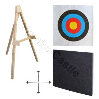 Profi Zielscheiben / Ständer Set für 80 x 80 cm Scheiben