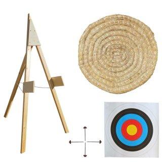 Stroh-Zielscheiben / Ständer Set