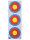 Papierauflage FITA 3er Spot kombiniert 3 x 20 cm