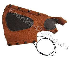 Armschutz IDV Kombiarmschutz aus Echtleder braun