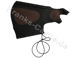 Armschutz IDV Kombiarmschutz aus Echtleder schwarz