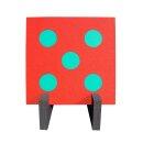 Fun Zielscheibe Würfel mit Ständer 60 x 60 x 5 cm