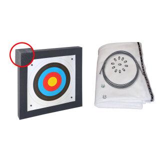 Zielscheiben Set 80x80x10 cm mit 3 m Pfeilfangnetz standard weiß