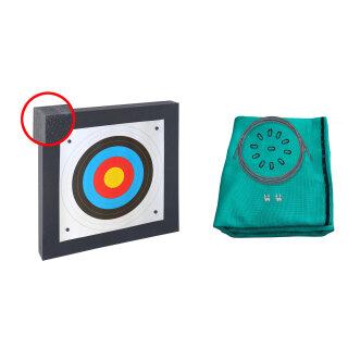 Zielscheiben Set 80x80x10 cm mit 3 m Pfeilfangnetz extra stark
