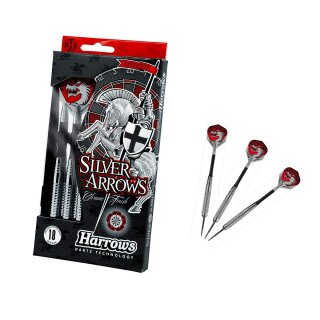 3er Set Steeldarts Harrows Silver Arrows