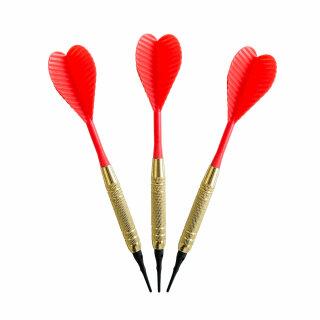 3er Set Softdarts Red Heart 16 g
