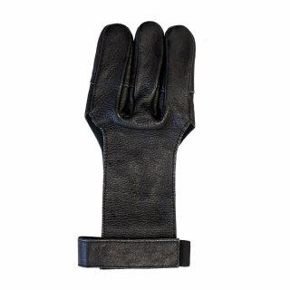 Schießhandschuh schwarzes Leder
