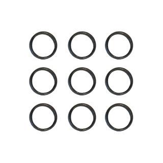 9x Slot Lock Ringe schwarz