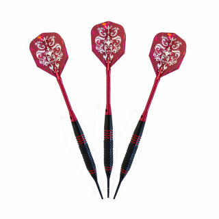 3er Set Softdarts Harrows Pirate 16 g rot