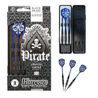 3er Set Softdarts Harrows Pirate 18 g blau