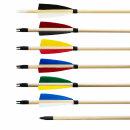 Holzpfeile aus Fichte verschiedene Farben mit Frontwicklung