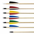 Holzpfeile aus Fichte verschiedene Farben
