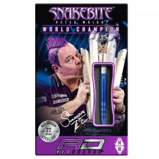 3er Set Steeldarts Red Dragon Snakebite PL15 Blue