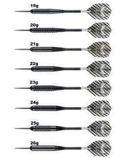 3er Set Steeldarts Harrows Black Arrow