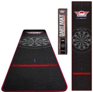 Dartmatte Bulls Carpet Dartmat 300x65cm Black & Red