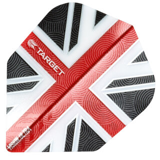 Dart Flights Target Vision Ultra UK Clear Red NO6