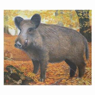 Scheibenauflage Wildschwein  78,5 cm x 81 cm