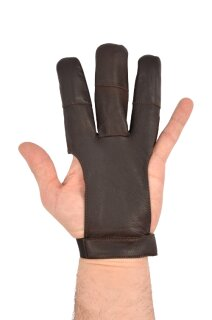 Schiesshandschuh dunkles Leder