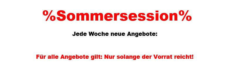Sommersession Sale